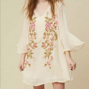 Altar'd State Floral Embroidered Lined Rina Dress